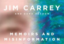 la copertina di Memoirs and misinformation di Jim Carrey
