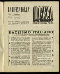 6 ottobre 1938: il Gran Consiglio del Fascismo approva la Dichiarazione sulla razza