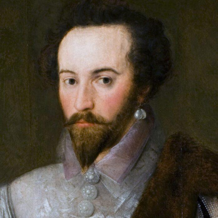 Walter Raleigh ritratto al ritorno da un viaggio