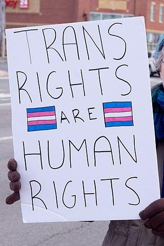 Hashtag #Transrightsarehumanrights