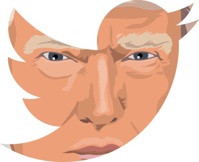 Trump face on twitter app
