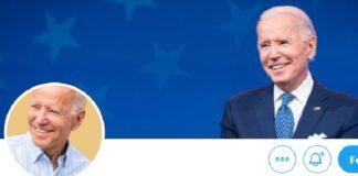 Biden presenta il nuovo account