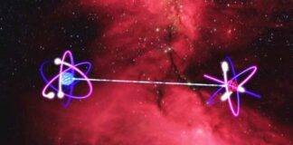 Immagine simbolo del teletrasporto quantistico.
