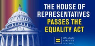 Camera americana approva la legge sull'uguaglianza