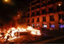 Aктивные демонстрации Испании