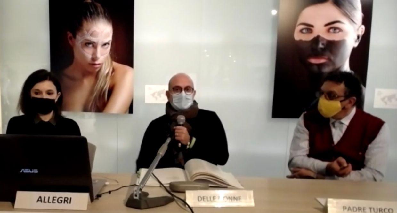 """Conferenza stampa di presentazione della mostra """"Tribes, the last breath on earth"""" (foto scattata da Loredana Carena durante la diretta in streaming)"""