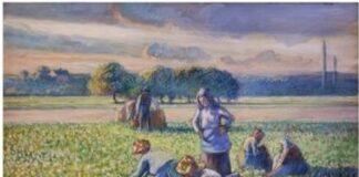 """Pissarro """"Pea harvest"""""""