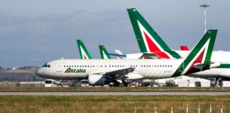 Manifestazione Alitalia