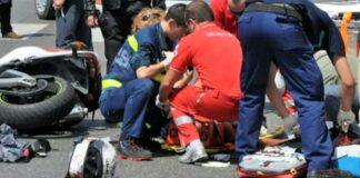 Gravissimo incidente in moto