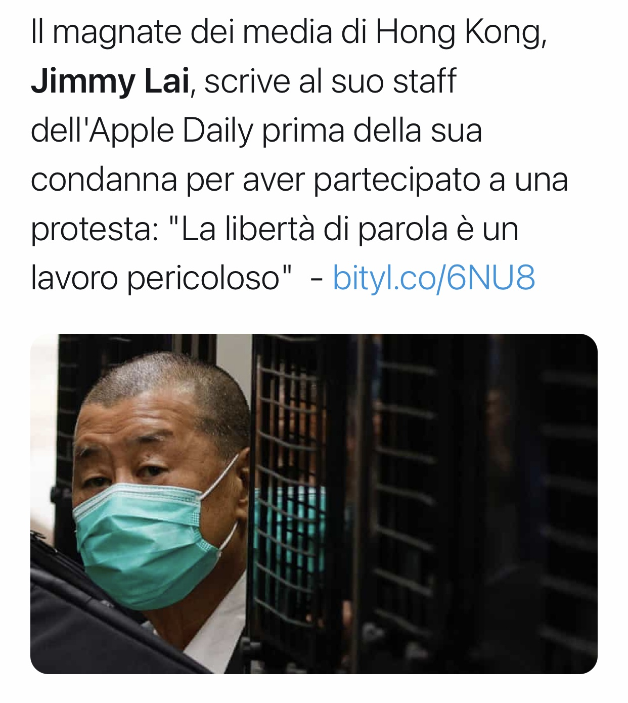 Jimmy Lai carcere