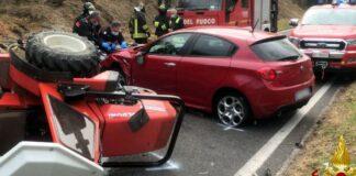 Incidente stradale avvenuto