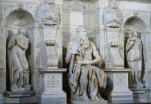 luce su Mosè Michelangelo