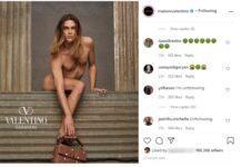 Designer Pierpaolo Picciolli attaccato per la foto del modello androgino