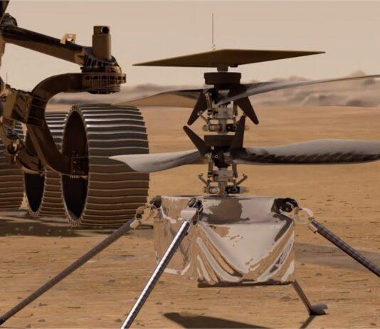 Ingenuity Mars decollo