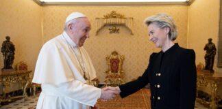 Von der Leyen dal Papa