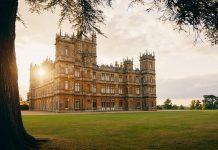 set delle serie tv negli UK: castello di Downton Abbey