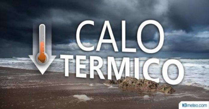 Crollo termico e temporali