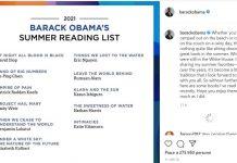 Obama pubblica la lista di lettura