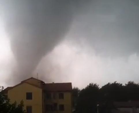Tromba d'aria in Trentino