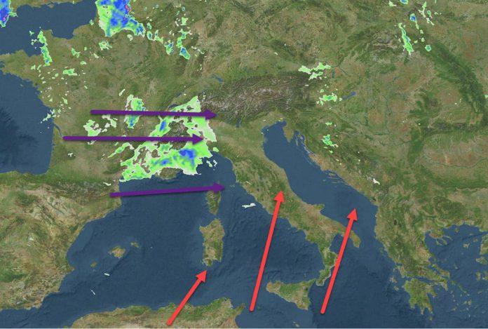 temporali al Nord