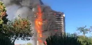 Spaventoso incendio