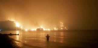Emergenza incendi in Grecia