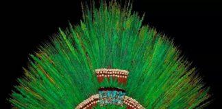 Copricapo azteco del Weltmuseum