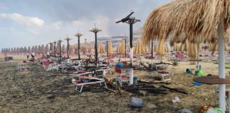 Pescara in fiamme