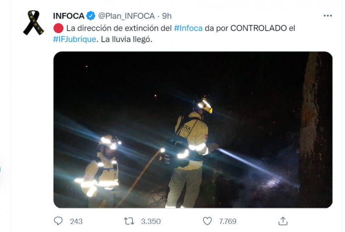 Maxi incendio in Spagna