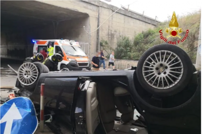 Drammatico incidente sull'A20