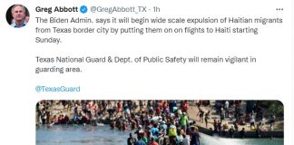 Texas: oltre 10 mila migranti haitiani giunti al confine
