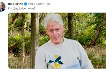Bill Clinton condivide il suo stato di salute