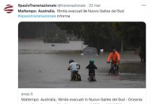 Violento nubifragio in Australia