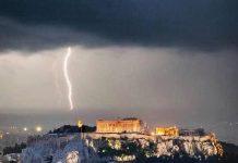 Forte maltempo in Grecia
